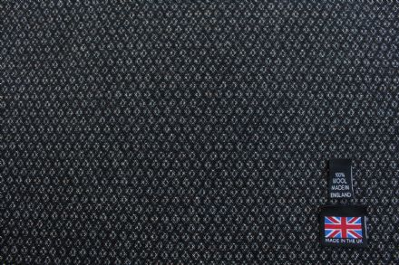 100% Pure New Wool Fancy Diamond Weave Fabric CZ11